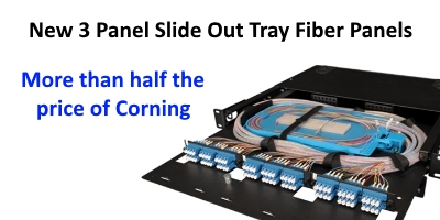 New Tech Industries Slide Out Tray Fiber Patch Panels Corning Style