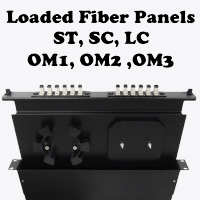 New Tech Industries loaded fiber optic patch panels