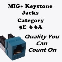 New Tech Industries MIG Category5E Keystone Jacks