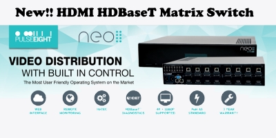 New Tech Industries NEO:4 Professional HDBaseT Video Matrix Switch 4 70m Receivers